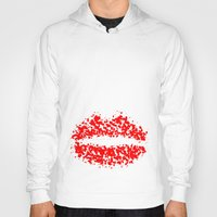 lips Hoodies featuring LIPS by ROBAUSCH