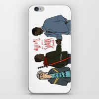 pacific rim iPhone & iPod Skins featuring Attack the Pacific Rim by Yakotako