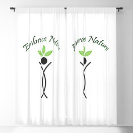 Embrace Nature- The graphic portrays the need to save the environment Blackout Curtain