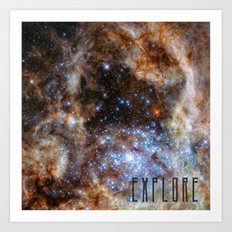 Explore - Space and the Universe Art Print