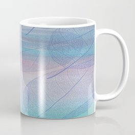 Painterly Pastel Leaves Abstract Coffee Mug