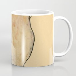 "Egon Schiele ""Female Nude Pulling up Stockings, Back View"" Coffee Mug"