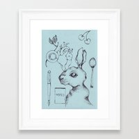 indie Framed Art Prints featuring Indie Rabbit by AurorA