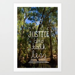 Do More Justice Poster Art Print