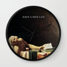 The death of Marat with Have a Nice Life logo Wall Clock