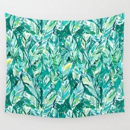 BANANA LEAF JUNGLE Green Tropical Wall Tapestry