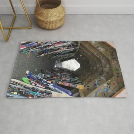 Hideout gathering of skis Rug