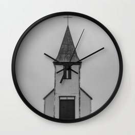 Old Church in Iceland Wall Clock