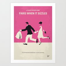 No785 My Paris When it Sizzles minimal movie poster Art Print