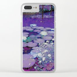 Purple Lake Dreaming Clear iPhone Case