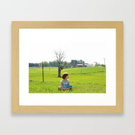 Cow Watcher Framed Art Print