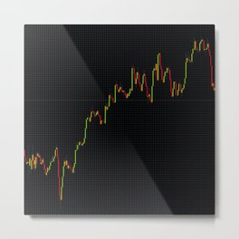 Japanese Candlestick Forex Stock Diagram Metal Print