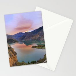 Lenticular clouds at the lake Stationery Cards
