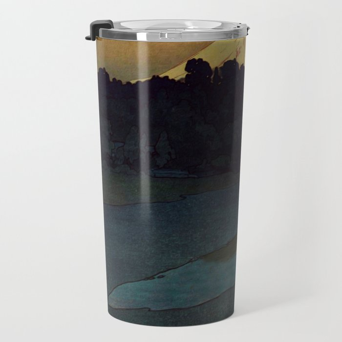 Sunset at Aga Travel Mug