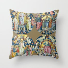 "Raffaello Sanzio da Urbino ""Ceiling Of The Stanza Dell Incendio Del Borgo"" Throw Pillow"
