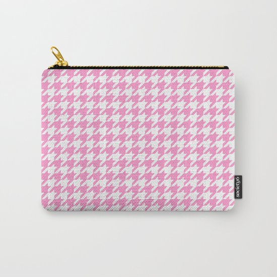 Rose Quartz Houndstooth by thepastelwitch