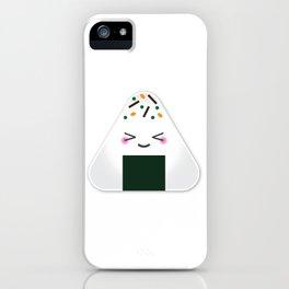 Happy onigiri iPhone Case
