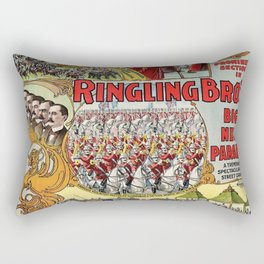 1899 Ringling Brothers Big New Parade Vintage Circus Poster Rectangular Pillow
