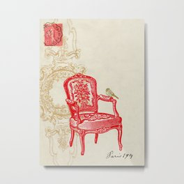 The Red Chair Metal Print