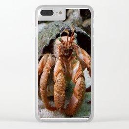 Hermit Crab Clear iPhone Case
