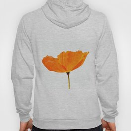 One And Only - Orange Poppy White Background #decor #society6#buyart Hoody