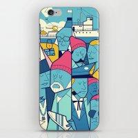 zissou iPhone & iPod Skins featuring The Life Acquatic with Steve Zissou by Ale Giorgini