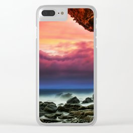 Sunset Beachscape Clear iPhone Case