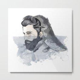 Whaleman Metal Print
