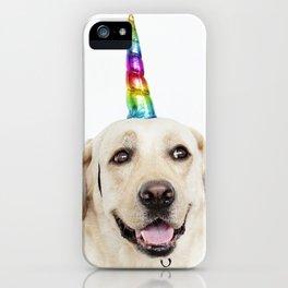 Funny Cute Unicorn Labrador iPhone Case
