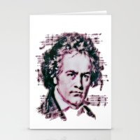 beethoven Stationery Cards featuring Beethoven by Zandonai