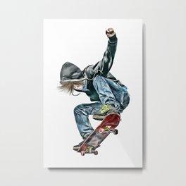 Skateboarder Metal Print