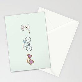 Lunettes Vélo Café  Stationery Cards