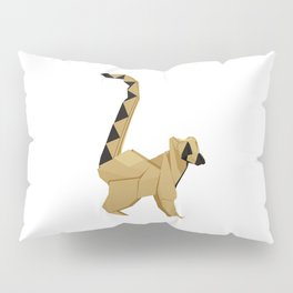 Origami Lemur Pillow Sham
