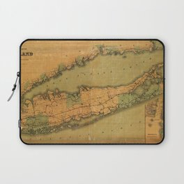 Map Of Long Island 1888 Laptop Sleeve