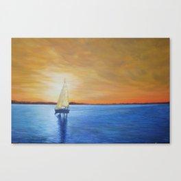 Gilded Sky Sailing Canvas Print