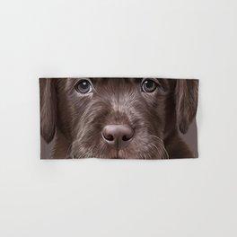 Drawing puppy Labrador Hand & Bath Towel