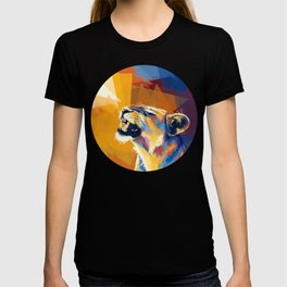 In the Sunlight - Lion portrait, animal digital art T-shirt