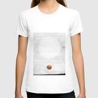 copper T-shirts featuring white & copper by LEEMO