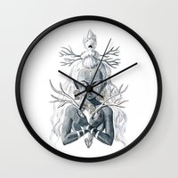 luna lovegood Wall Clocks featuring Luna by Freeminds