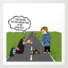 Buzzard Cartoon Art Print