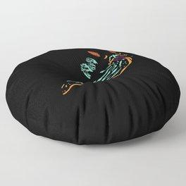 Neon Nudibranch Floor Pillow