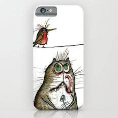 A Cat ponders, fish or poultry? iPhone 6s Slim Case