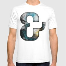 Ampersand Series - Silom Typeface SMALL White Mens Fitted Tee
