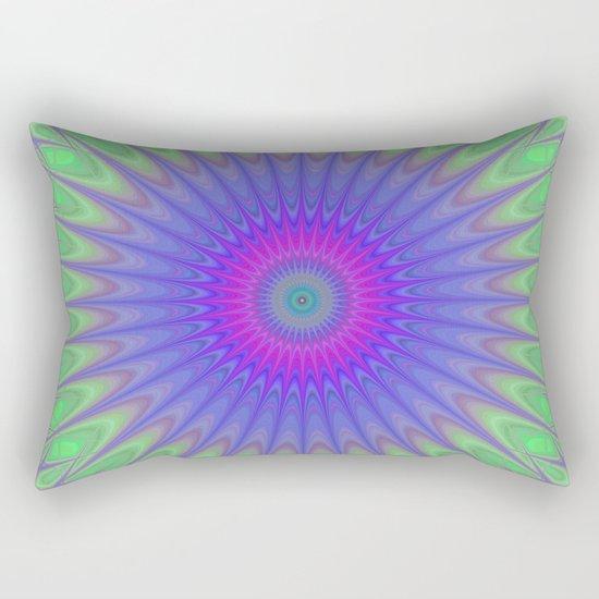 Cold mandala Rectangular Pillow