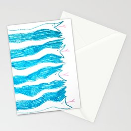snake stripes Stationery Cards