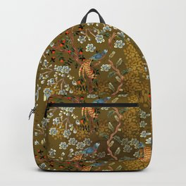 Golden Chinese Forest - Chinese Art Backpack