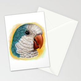 Blue quaker parrot realistic painting Stationery Cards