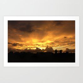 Sunset in Miramar Art Print