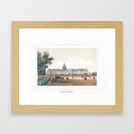 Paris art print Paris Decor office decoration vintage decor HOTEL DES INVALIDES of Paris Framed Art Print