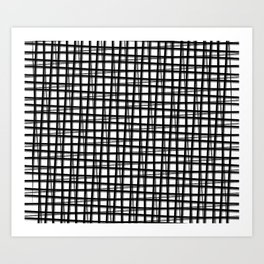 Black Line Art Print